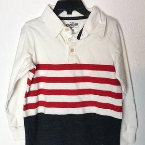 Long sleeve striped boy's OshKosh B'gosh polo